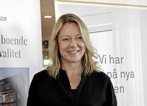 """Katarina Hultqvist känner sig trygg med projektet i Djurås. """"Jag hoppas markjobben är igång före årsskiftet""""."""
