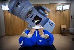 En cancerpatient får strålning. Foto: TT