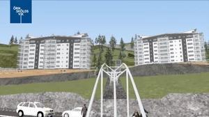 Planerna på en snedhiss för att binda ihop Kusthöjden med stan har funnits med ända sedan projektet startade.