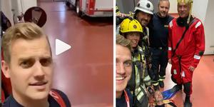 Filmen på Södertörns brandförsvars Instagramkonto har fått mycket uppmärksamhet. Foto: Richard Axell