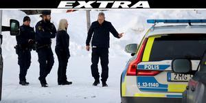 Polisens tekniker var på plats tidigt på onsdagsmorgonen.