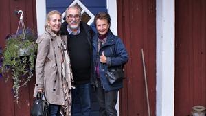 Anastasia Lindqvist, Berndt Noelle och Monica Carlzon utställning i Vagnhärad 2018. Foto: Birgitta Noelle.