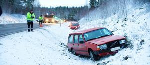 I början av december skedde flera halkolyckor längs väg 266. Foto: Kjell Jansson, arkiv