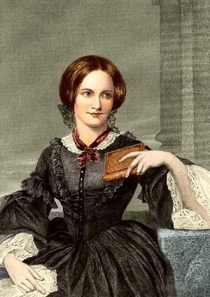 Evert A Duycknicks postuma och idealiserade porträtt av Charlotte Brontë från 1874 efter George Richmonds skiss från 1850.