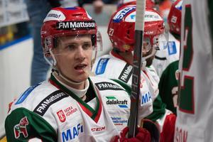 Dustin Gazley är tveksam till spel mot Södertälje.