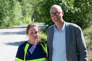 Ylva Gustavsson, driftchef Telge nät och Håkan Karlsson, vd Tälje nät.