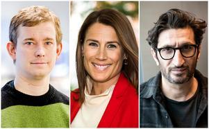 Erik Niva, Jill Johnson och Fares Fares. Foto: Erik Mårtensson, Claudio Bresciani och Christine Olsson/TT