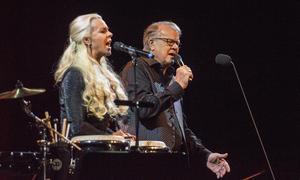 Malena Ernman och Lasse Berghagen uppträdde på Magasinet i Falun den 14 december-