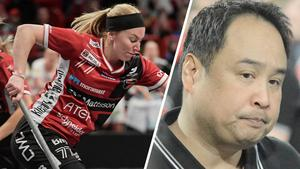 Elin Reinestrand, back, och Noél Alm Johansson, tränare. Foto: TT/DT