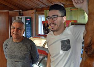 Far och son, Jamal och Khaled Madi, ser fram emot att få öppna Dalarnas första vattenpipekafé.