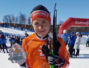 Martin Nilsson från Hägglunds vann Lilla Fjälltopploppet.                                                          Bild: Privat