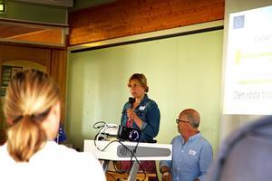 Annika Ruth har varit en av dem som arbetat med projektet. Under utvärderingsseminariet berättade hon om många starka ögonblick. Hon har nu gått från projektanställd till att få fortsätta utveckla arbetet.