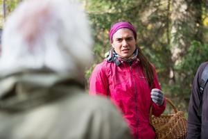 Ylva Bergaskörd var tacksam för tips från coachen.
