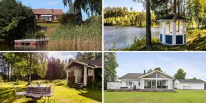 Några av Dalarnas mest populära objekt på Hemnet under vecka 30. Foto: Therese Sätterlund, Patrik Persson, Carin Heed