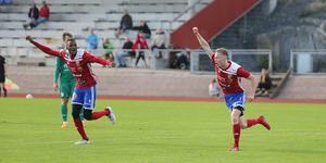 Emil Freij inledde målskyttet mot Franke med sitt tredje mål på två matcher.