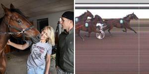 Lotta Thörnberg skrällde på sin sjunde start som kusk och var först i mål till vinnaroddset 54 gånger insatsen. Hästen ägs och sköts av Lotta och hennes make, den tidigare HV-stjärnan Martin Thörnberg.