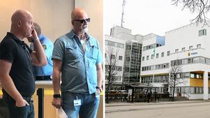 Jonas Rydén, till vänster, och Peter Springare plockades bort från mordutredningen på Lena Wesström. De omplacerades och efter det har en arbetsrättslig tvist pågått.