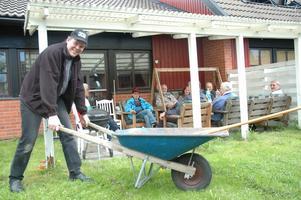 Göran Hylander, ordförande i bostadsrättsföreningen Svea, hoppas på en bra framtid för föreningen.