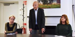 Olof Wallgren ordförande i nomineringskommittén i Centerpartiet i Krokom, samt Karin Jonsson och Ingrid Zakrisson.