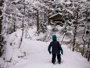 Bild från vintrigt Mullsjö. Foto: Veronica Hörland