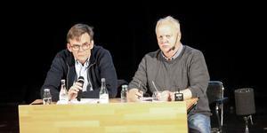 Tillförordnade vd:n Lennart Ivarsson och den ideella föreningsordföranden Bosse Ottosson.