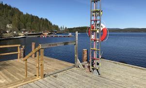 Här vid Ödskajen i Kramfors har man gjort arbeten på den gamla kajen och dessutom investerat i ny brygga och kaj vid båtklubben.