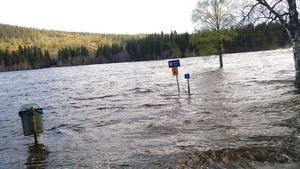 Campingförbud vid Tegeforsen mellan Åre och Duved.Foto: Sven- Erik Berglund