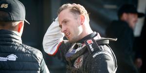 Anders Thomsen har fått vätska i benmärgen i handen till följd av kraschen för ett par veckor sen.