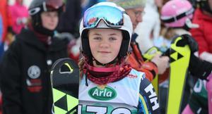 Tilde Tjärnås tog en fin sjundeplats i slalom.