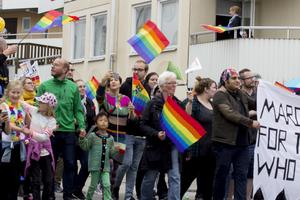 I fjol deltog ett tusental i prideparaden.