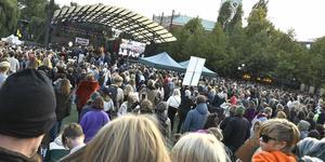 Klimatdemonstrationen i Stockholm den 27 september. Foto: Claudio Bresciani/TT