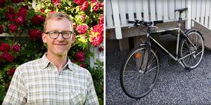 Göran Bergqvist väljer det resesätt som han tycker passar bäst, att hyra en bil är det sista alternativet.