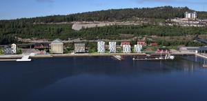 Så här ser visionen för Varvskajen ut. Skiss: Nils Bjuggstam/Loveframe/Arctic Factory.