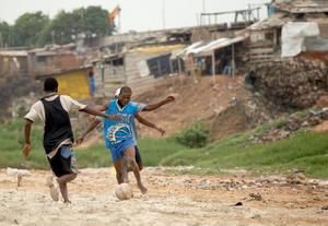 Fotboll är Ghanas populäraste idrott. Foto: Olivier Asselin / SCANPIX