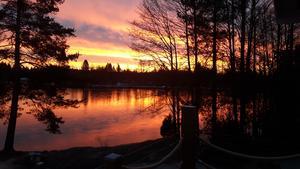 Tidig januarimorgon över Olof Jons. Foto: Ingegerd Einarsson