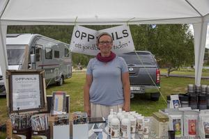 Birgitta Lindh Andersson, bonde på Oppinils i Långå hade många spännande produkter.
