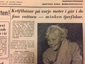 Skaraborgs-Tidningens första sida 8 augusti 1956.