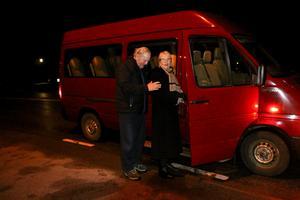 Monica Berglund har med åren blivit stammis på Bengts julottebuss. I år var hon den enda som klev på i Lekhyttan.