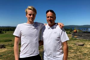 Egil Wicander och Peter Wicander från Ovansiljans flygklubb. Egil har varit pilot och pappa Peter har varit spanare i jakten på skogsbränder i norra Dalarna.