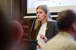 Alexandra Gard (S) är oppositionsråd.