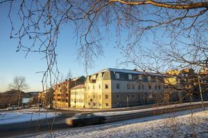 Rådhusgatan, Gränsgatan. Det här var det yttersta hörnet av staden vid tiden för den stora branden. Här utanför var ren landsbygd även om Odenslund var bebyggt med flera enklare hus. Det här var också det sydöstra hörnet av stadsdelen Myran.