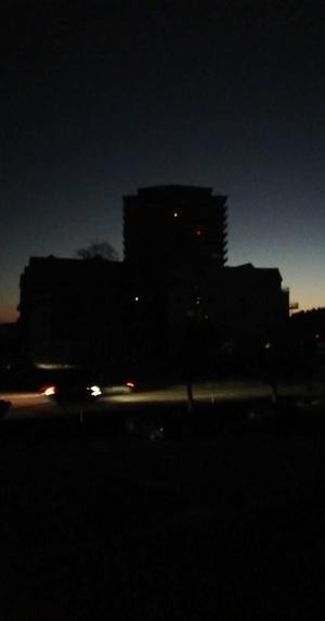 Mörker över Norrtälje hamn. Foto: Annika Hellberg