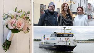 De tre företagarna Emilie Vallenstein, Emelie Edström och Johan Bergsten i Askersund samarbetar för första gången och ska tillsammans satsa på att arrangera ett bröllopsevent i juli.