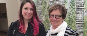 Kicki Nyberg Roos och Marlene Johansson från Hyresgästföreningen.