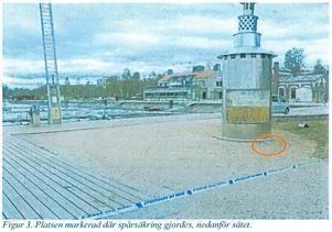 Foto från polisens förundersökning. Bilden visar småbåtshamnen i Östersund vid Marité. En kvinna ska ha blivit våldtagen natten mot 22 maj 2016 vid piren.