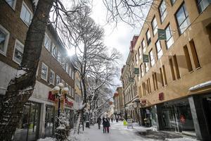 Arkivbild: Prästgatan i Östersund.