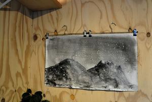 Jonas C Wilhelmsson från Funäsdalen har målat konsten på väggarna.
