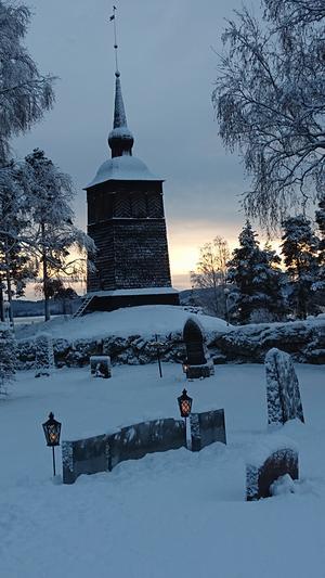 Klockstapeln vid Tuna kyrka. Bild: Anette Hermansson