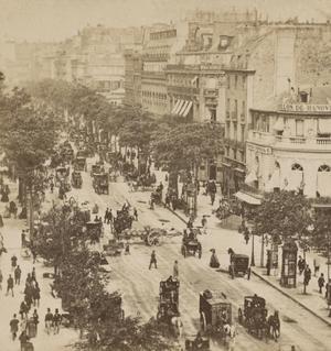 Paris på 1860-talet. Foto: Okänd