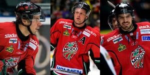 Alexander Bonsaksen, Mattias Timander och Hannu Pikkarainen. Foto: Robin Nordlund (Bildbyrån).
